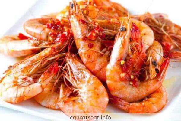 Shrimps in cooked form